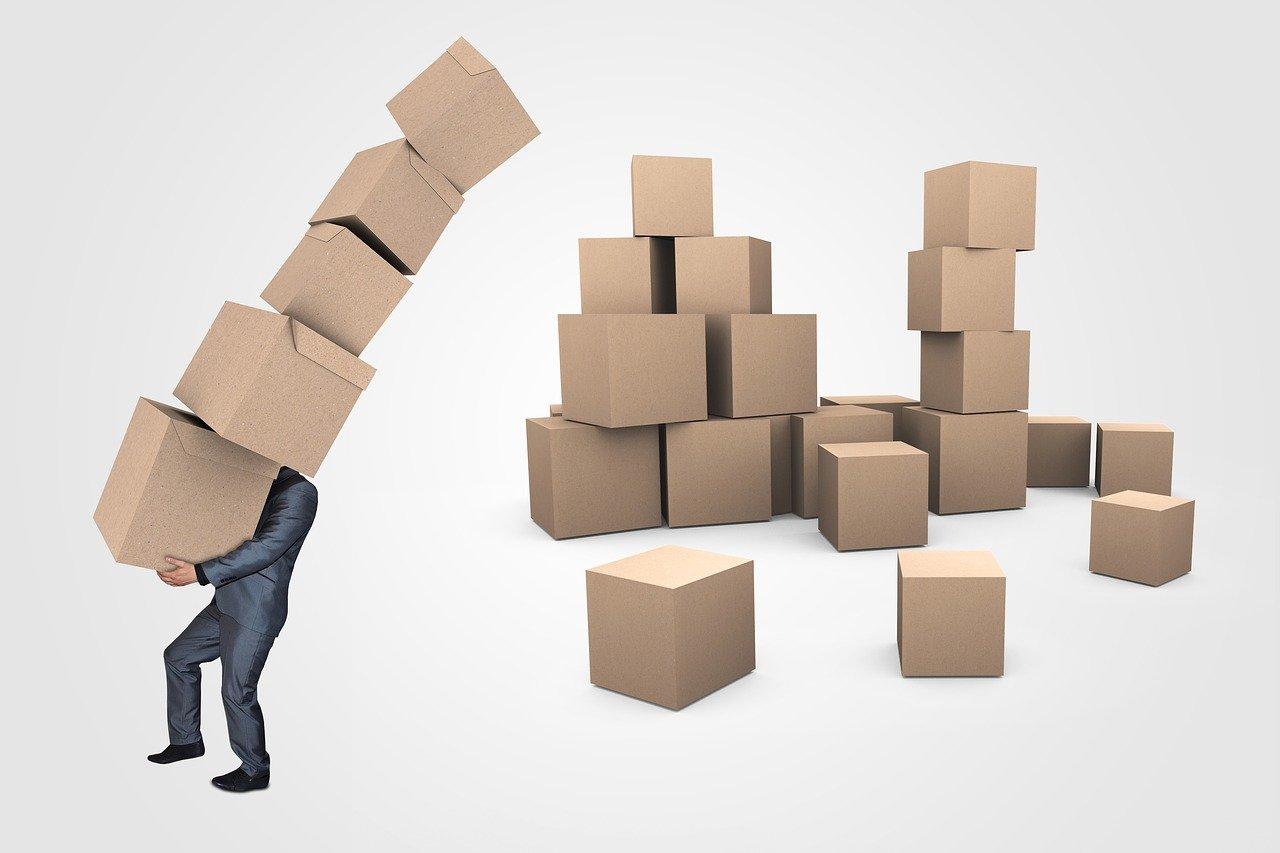 businessman, boxes, transport